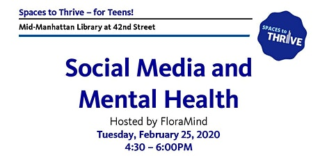 Social Media and Mental Health For Teens tickets