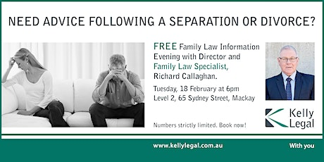 Need Advice Following a Separation or Divorce? tickets