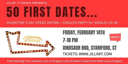 50 FIRST DATES : VALENTINE'S DAY SPEED DATING + SINGLES PARTY