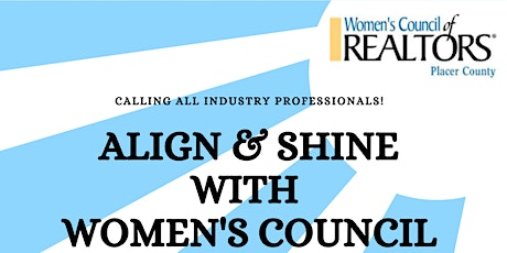 Align and Shine with Women's Council Placer tickets