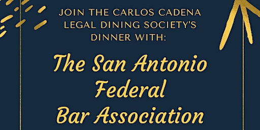 The Carlos Cadena Legal Dining Society Presents: An Evening With The FBA