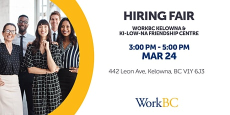 Kelowna WorkBC Hiring Fair tickets