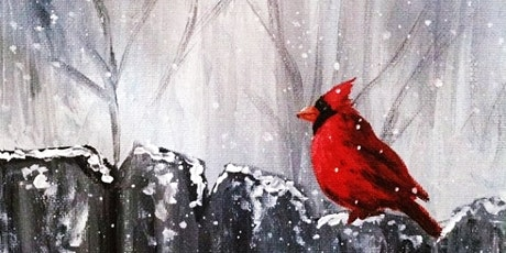Painting Red Bird in Winter, Adults Class tickets