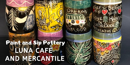 *Valentines* Paint and Sip Pottery at Luna Cafe and Mercantile!