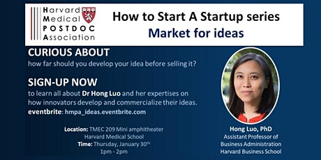 How to Start A Startup series: Market for ideas tickets