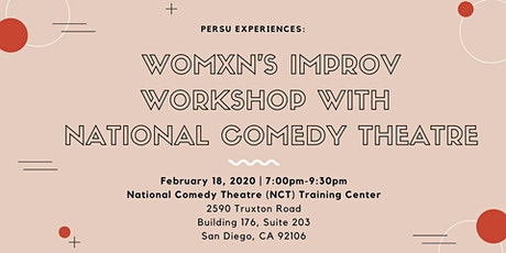 Womxn's Improv Workshop with National Comedy Theatre San Diego tickets