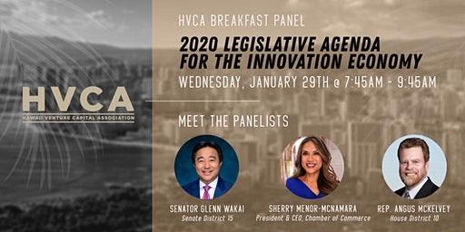HVCA Breakfast - What to Watch: 2020 Legislative Agenda for the Innovation Economy