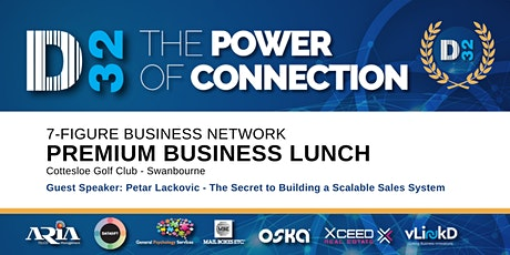 District32 Connect Premium Business Lunch Perth - Thu 30th Jan tickets