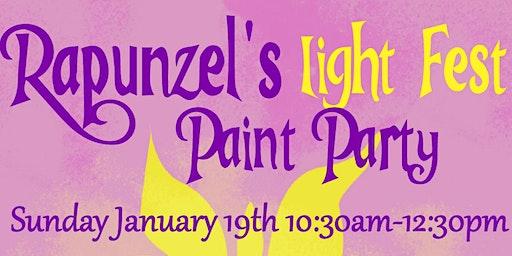 Rapunzel's Light Fest Paint Party
