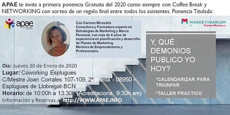 APAE te invita a la Primera ponencia GRATUITA del 2020 + NETWORKING + COFFE entradas