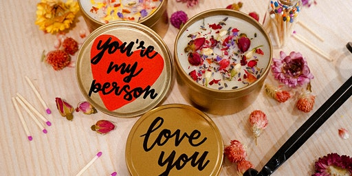 Galentine's Calligraphy + Candle Making Workshop