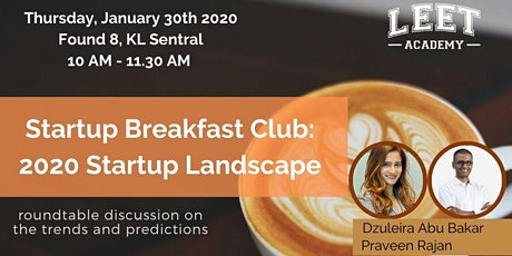 Startup Breakfast Club: 2020 Landscape tickets