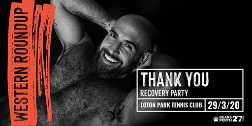 Western Roundup 2020 Thank You recovery party tickets only