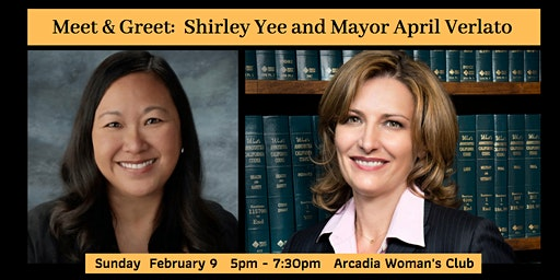 Meet and Greet for Shirley Yee and April Verlato
