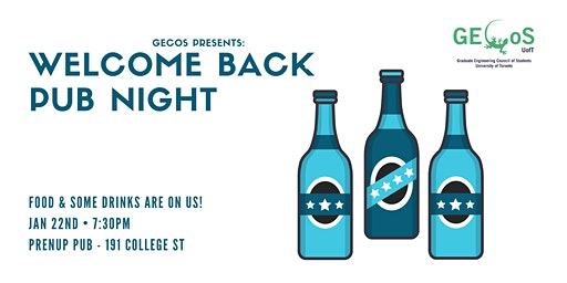 2020 GECoS Welcome Back Pubnight