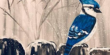 Evening Fundraiser Paint Class - Winter Jay tickets