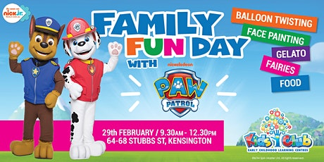 Nickelodeon's PAW Patrol Show @ Kids Club Kensington Family Fun Day! tickets