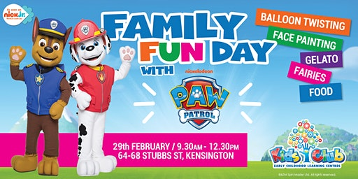 Nickelodeon's PAW Patrol Show @ Kids Club Kensington Family Fun Day!
