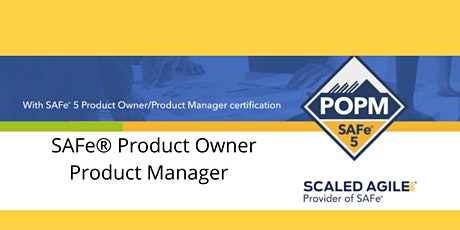 Product Owner/Product Manager - SAFe® 5.0 - Bangalore tickets