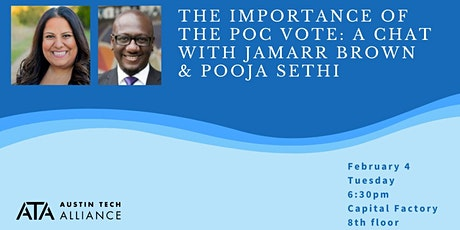 The importance of the POC vote: A chat with Jamarr Brown & Pooja Sethi tickets