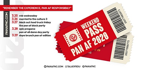 Pan Af Weekend Pass tickets
