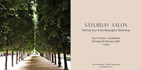 Writing Your Artist Biography : Saturday Salon Workshop tickets