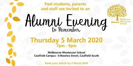 Alumni Evening to Remember tickets