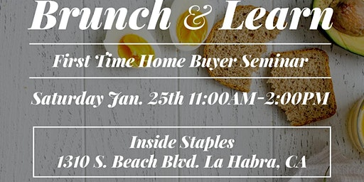 Brunch and Learn - First time Home Buyers