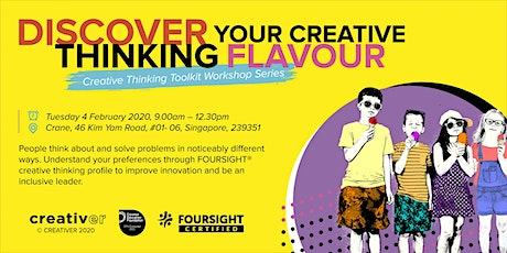 DISCOVER your CREATIVE THINKING flavour  tickets