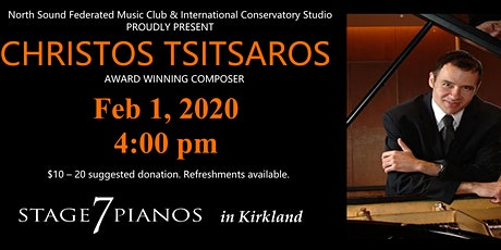 Award-Winning Composer Christos Tsitsaros tickets