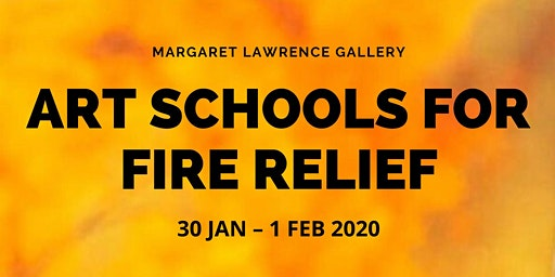 Art Schools for Fire Relief - Opening Night