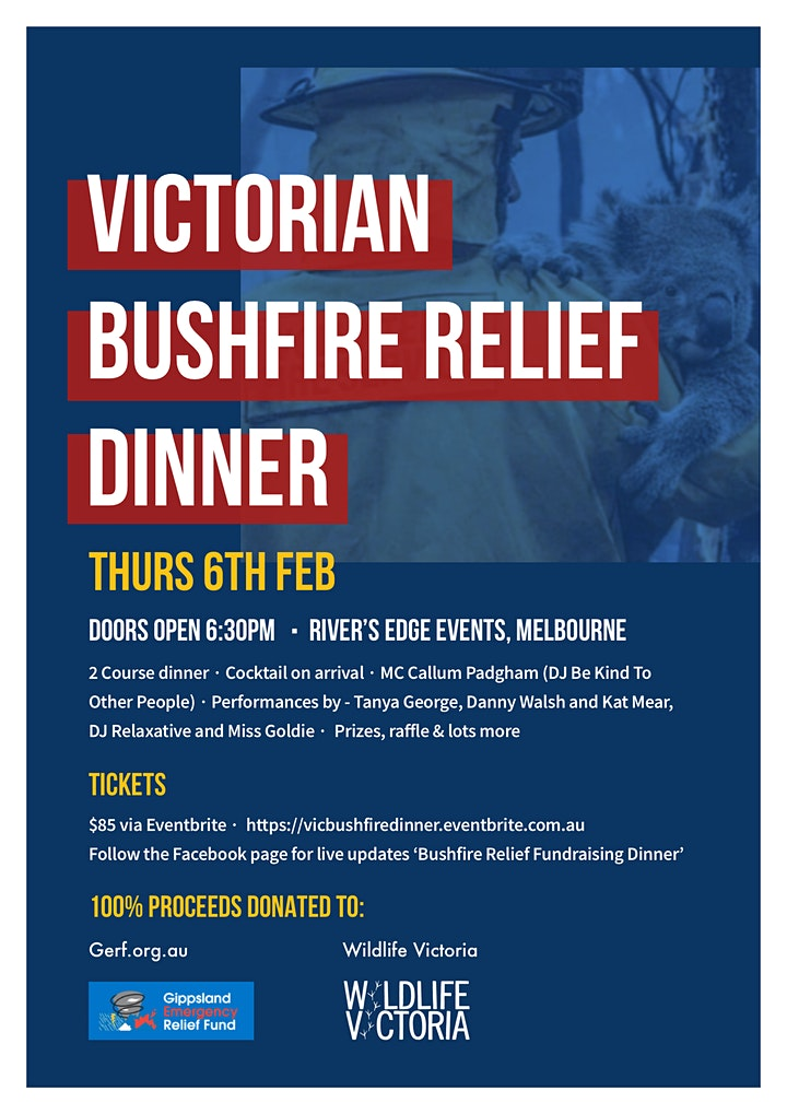 Victorian Bushfire Community Fundraiser Dinner image