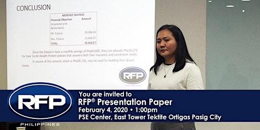 Registered Financial Planner (RFP®) Paper Forum