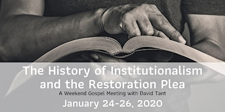 The History of Institutionalism and the Restoration Plea tickets