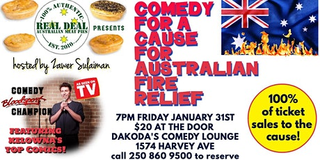 Real Deal Australian Meat Pies presents Comedy for Australian Fire Relief tickets