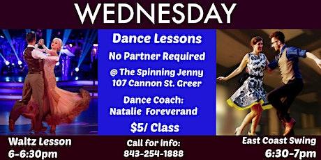 Waltz & East Coast Swing Dance Lessons (triple step swing) tickets