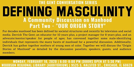 Defining Masculinity: A Community Discussion on Manhood - Part 2 tickets