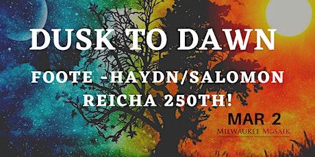 """Milwaukee Musaik presents: """"DUSK TO DAWN"""" tickets"""