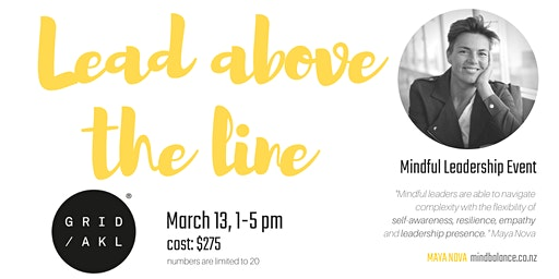 Leading Above the Line - Mindful leadership event