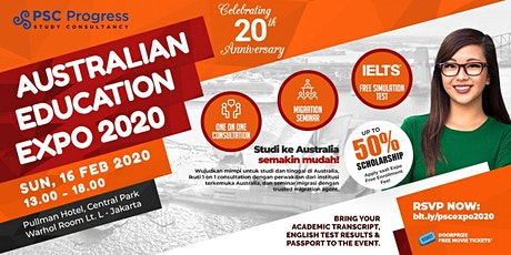 [THE BIGGEST EVENT] Australia Education & Migration Expo Februari 2020 tickets