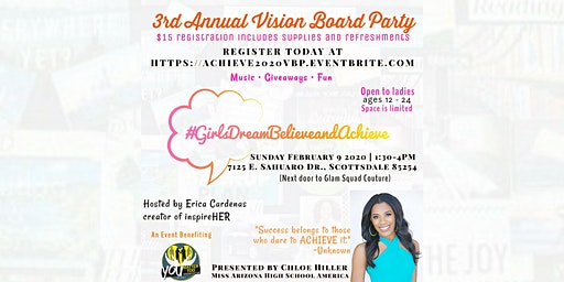 Girls Dream, Believe and Achieve: 3rd Annual Vision Board Party