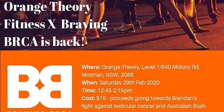 Orange Theory Mosman X Braving BRCA tickets