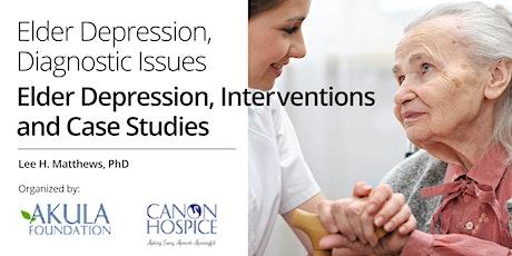 Elder Depression, Diagnostic Issues Elder Depression, Interventions and Case Studies billets