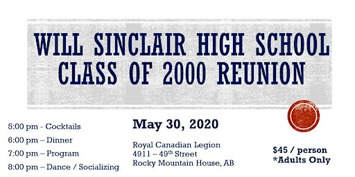Will Sinclair High School Class of 2000 Reunion