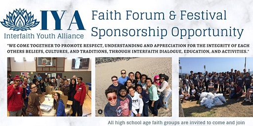 16th Annual Faith Forum & Festival Donation/Sponsorship