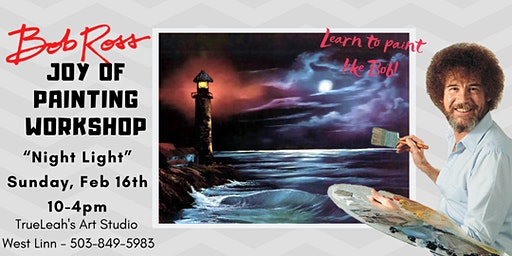 Bob Ross Joy of Painting Workshop - Night Light