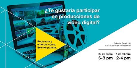 ¿Te gustaría participar en producciones de vídeo digital? entradas