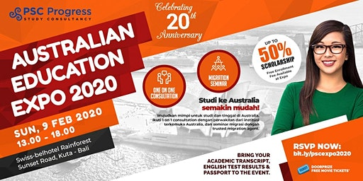 [THE BIGGEST EVENT] Australia Education & Migration Expo Februari 2020