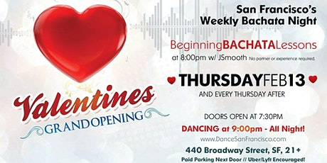 Bachata Thursdays - Bachata Dance Lessons & Dance Party,  Every Thursday tickets