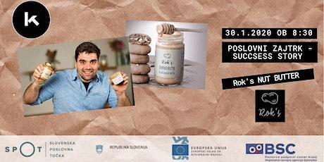 Poslovni zajtrk - success story: Rok's nut butter tickets